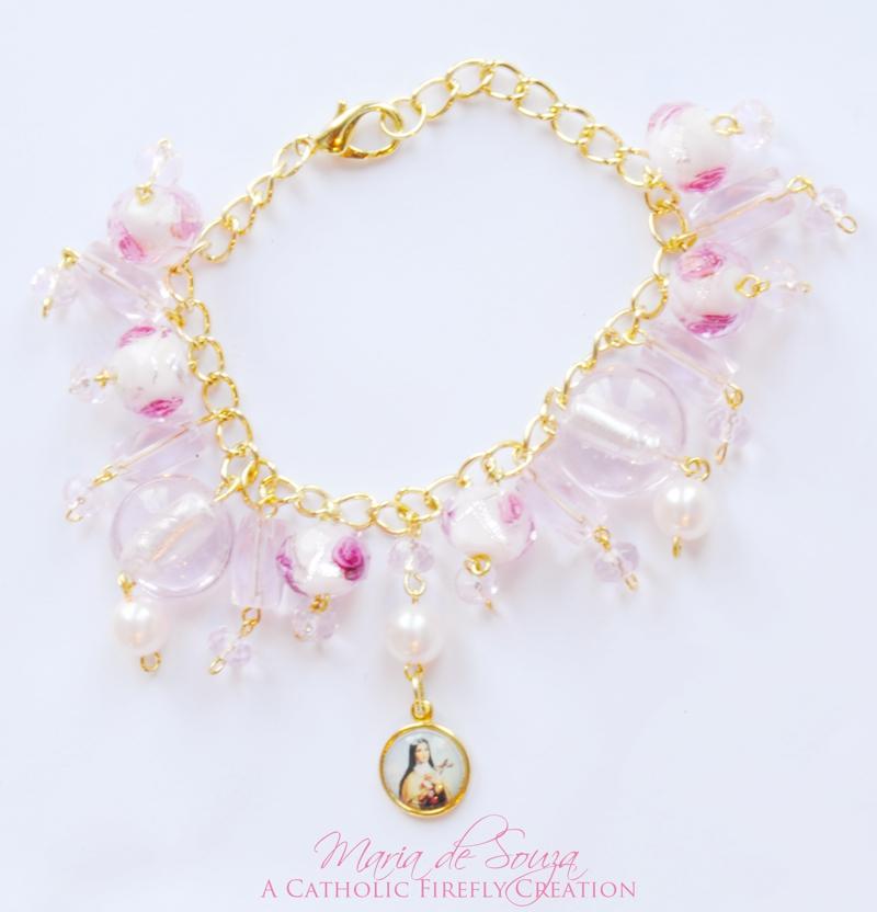 pinkglasstheresebracelet