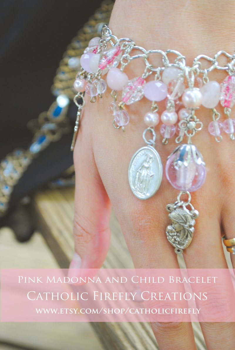 pinkmadonnaandchildbracelet