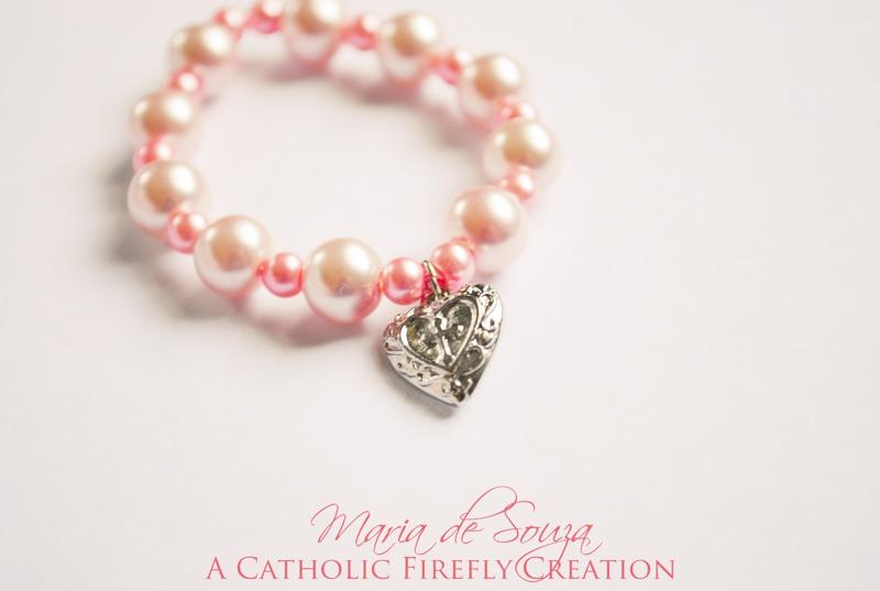 girlspinkholycrossheartbracelet
