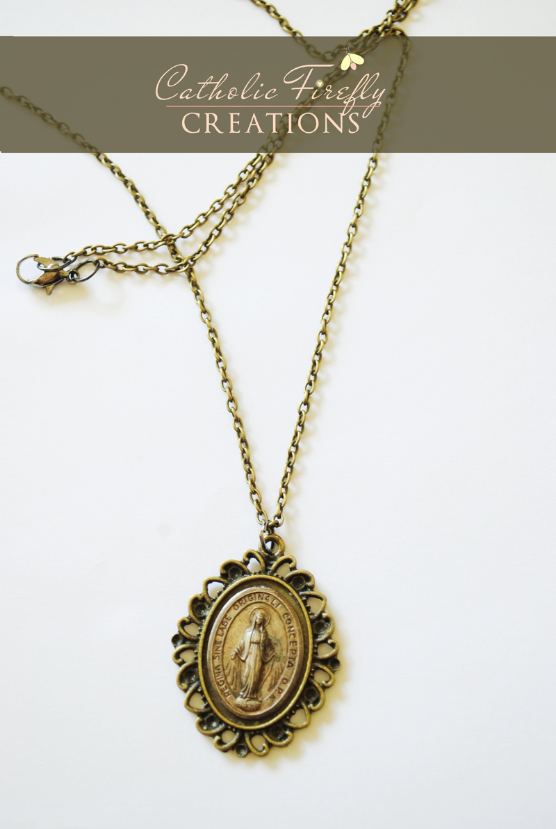 antiquemiraculousmedalnecklace